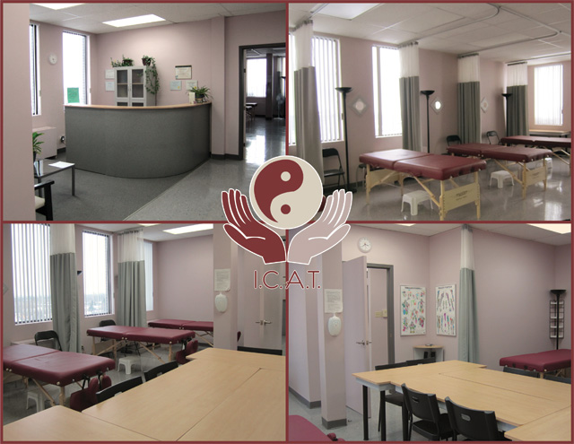 ICAT Massage School Reception and Classrooms