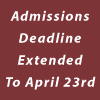Admissions Deadline Extended